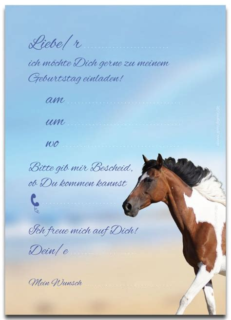 einladungen zum kindergeburtstag pferd emufarm