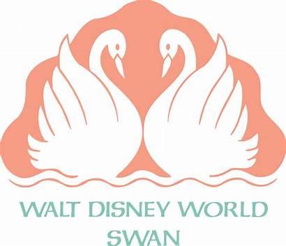 Swan Disney Walt Resort Svg Logos Orlando