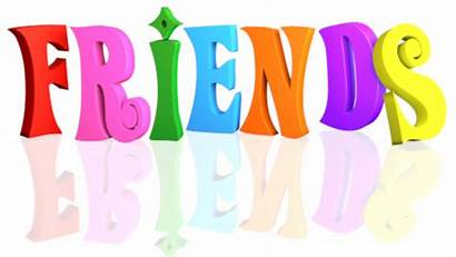 Friends Background Clip Text Multicolor Word Clipart