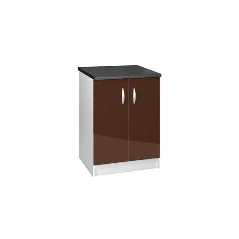 meuble bas cuisine 80 cm meuble de cuisine bas 2 portes 80 cm oxane laqué brillant