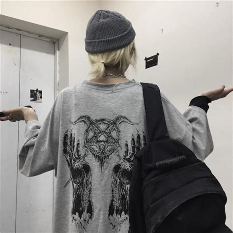 itgirl shop gray  black grunge aesthetic printed