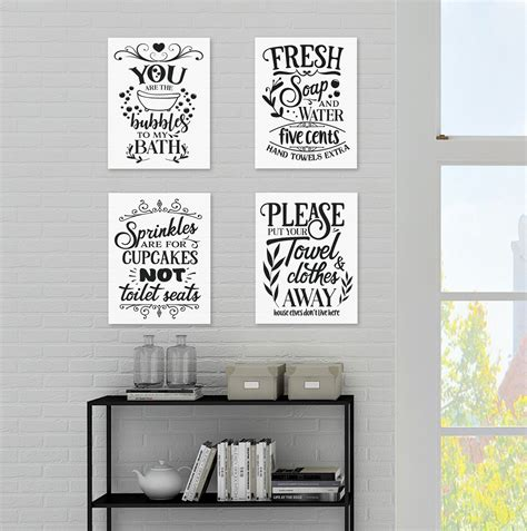 Bathroom Quotes Uk by Bathroom Quote Posters Set Of 4 Prints P1013