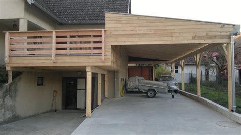 Carport Sur Deux Niveaux  Abt Construction Bois