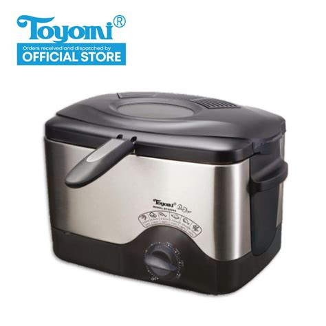 shopee toyomi fryer 5l df deep stainless steel body