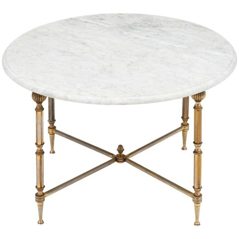 round marble top side table french round marble top brass side table jean marc fray