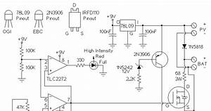 Controller Of Solar Charger Wiring Diagram Schematic