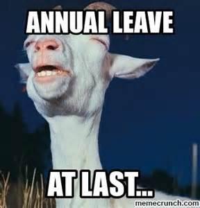 Leave Memes - annual leave
