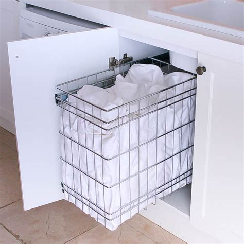 stainless steel pull  laundry baskets  storage