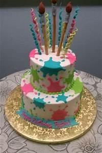 1000 ideas about Paint Splatter Cake on Pinterest