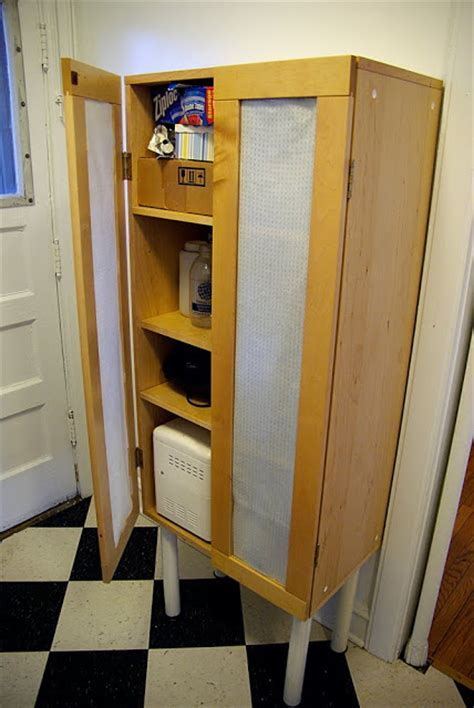 Kitchen pantry from scratch 'n dent cupboard   IKEA