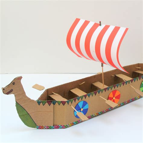 Viking Longboat Model by Help Me Make A Better Cardboard Viking Longboat Boatbuilding