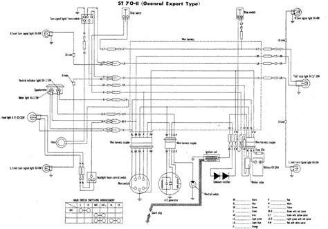 Honda Sl70 Wiring Diagram by St70 Wiring Diagram Page Honda St70i St70d And St70ii