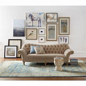 Home decorators collection arden dark beige linen sofa for Home decorators com