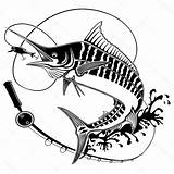 Fishing Rod Drawing Fish Illustration Getdrawings sketch template