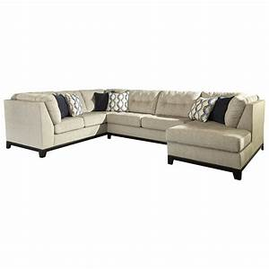 Benchcraft beckendorf 3 piece sectional w right chaise for Armless sectional sofa chaise