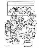 Thanksgiving Coloring Pages Printable Sheets Pilgrims Holiday Scenes Kid Fun Printables Sharing American Children Feast Harvest Native Turkey Activity Story sketch template