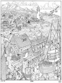 doodle seascape coloring page poster b coloring pages