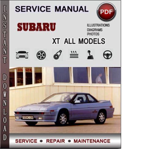 subaru xt service repair manual  info service