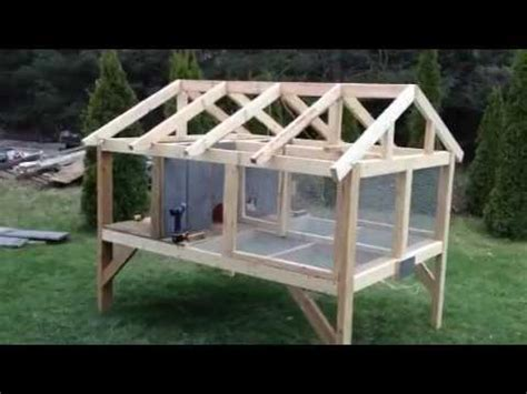 rabbit hutch plans outdoor canadian rabbit hutch part one
