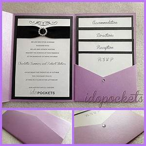 Pocket fold wedding invitations diy envelopes invite for Wedding invitation fold out envelope