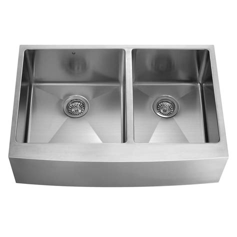 stainless steel kitchen sinks vigo farmhouse apron front stainless steel 36 in 8231
