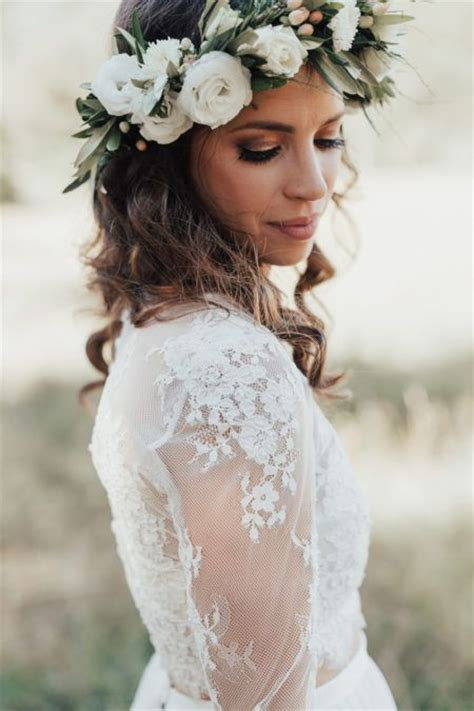 white flower crown ideas  pinterest