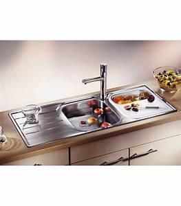 Lavello rettangolare da cucina acciaio inox blanco median for Accessori lavello cucina