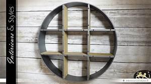 Etagere Ronde Murale : etag re murale ronde de style industriel int rieurs styles ~ Teatrodelosmanantiales.com Idées de Décoration