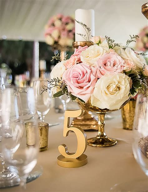 painted wedding table numbers wedding decor photo