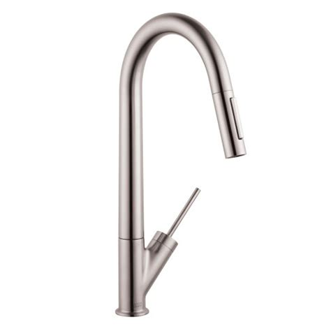 flpx bkpxy otu hansgrohe 10821801 starck high arc kitchen faucet steel optik