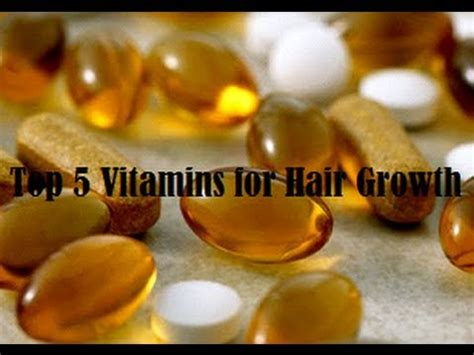 Top 5 Vitamins For Hair Growth Youtube