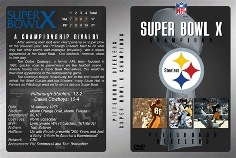 Super Bowl X Dvd Cover By Jamietakahashi On Deviantart