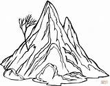 Coloring Mountain Printable Popular sketch template
