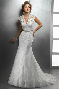 romantic style deep v neck rhinestone sashes lace covered With covered back wedding dress