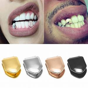 New Custom 14k Gold Plated Small Single Tooth Cap Grillz ...