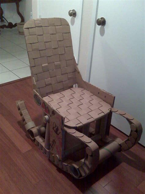 cardboard rocking chair by kurustein on deviantart