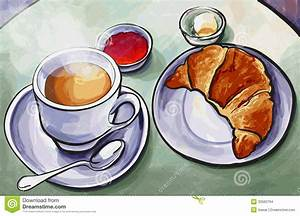 Fresh French Breakfast With Coffee Expresso And Croissant ...