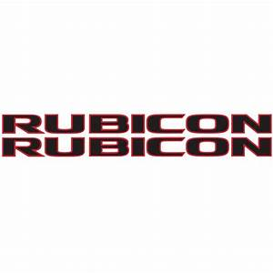 rubicon hood decal blk red alphavinyl With rubicon lettering