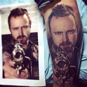 #Tattoos #Inked Aaron Paul / Breaking Bad tattoo/ Portrait ...