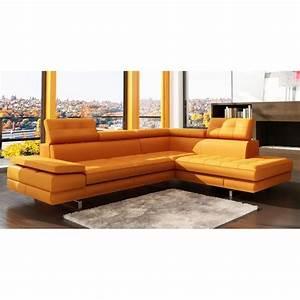 mobilier table canape d angle orange With canape angle orange