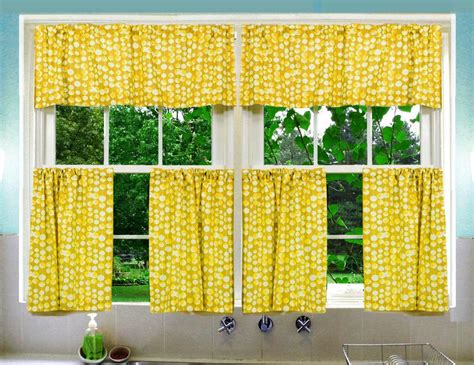 Joy, Warmth, And Good Vibes Yellow Kitchen Curtains