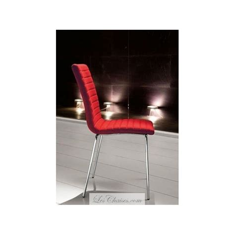 chaise de salle a manger en cuir krono par midj chaises blanc noir