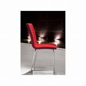 Chaise Salle A Manger Cuir : chaise de salle a manger en cuir krono par midj chaises rouge blanc noir ~ Teatrodelosmanantiales.com Idées de Décoration