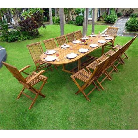 table de jardin avec rallonge salon de jardin en teck sumatra huil 233 avec table rallonge wood en stock