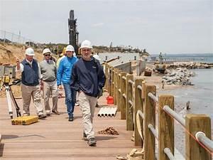 Oak Bluffs North Bluff seawall nears completion - The ...