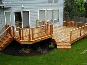 Two Level Deck Designs Photo by Multi Level Deck Can Easily Separate Sections With Gate