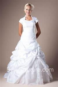 ball gown queen anne neckline sleeved taffeta lace beaded With queen anne wedding dress