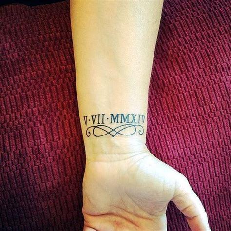 cool  classic roman numerals tattoo    year