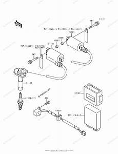 Kawasaki Motorcycle 1993 Oem Parts Diagram For Ignition