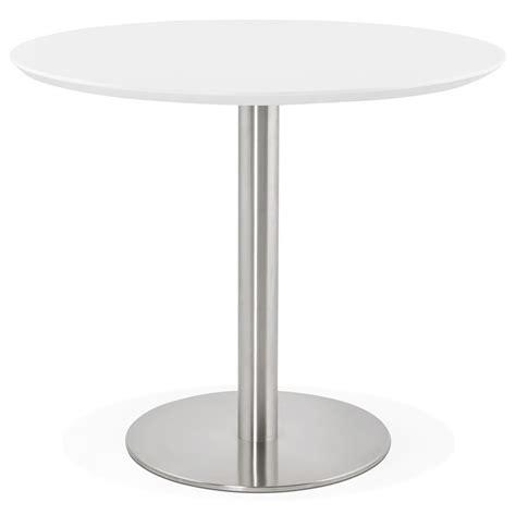 table ronde de bureau table de bureau ronde indiana blanche 90 cm table à diner